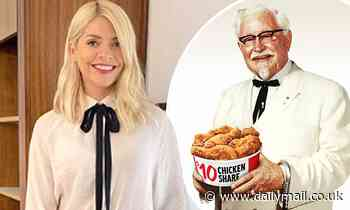 Holly Willoughby is 'hired' by KFC after she takes style inspiration from Colonel Sanders