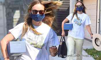 Olivia Wilde steps out in a casual ensemble during low-key solo outing in Beverly Hills