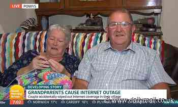 Couple whose TV knocked out entire village's internet for 18 months leave Piers Morgan in hysterics