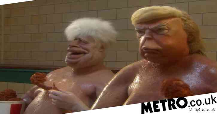 Spitting Image NSFW trailer savaged online as Donald Trump and Boris Johnson 'have penises whacked by Vladimir Putin'