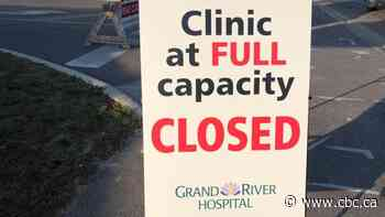 Kitchener drive-thru COVID-19 testing clinic hit capacity before it opened on Wednesday
