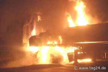 60-Tonner steht auf der A4 bei Ottendorf-Okrilla plötzlich in Flammen - TAG24