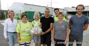 Recyclagepark kreeg honderdduizendste bezoeker over de vloer
