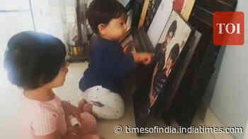 Yash and Radhika Pandit's daughter Ayra teaches little brother Yatharv to say Mama and Dada