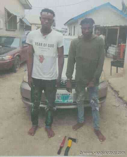 [ICYMI] Police arrest two suspected members of robbery gang that specialize in snatching vehicles from Uber drivers in Lagos