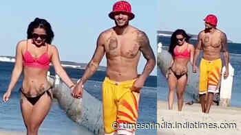 Krishna Shroff enjoys a romantic beachside walk with beau Eban Hyams, video goes viral!