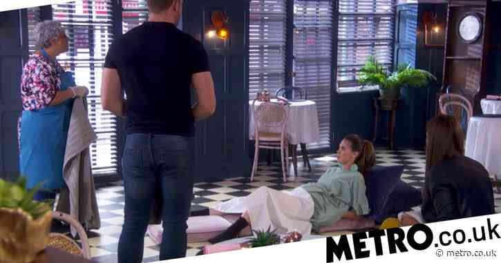 Hollyoaks airs soap's first socially-distanced birth scene
