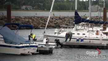 Shediac Bay yacht club members prepare for tropical storm | Watch News Videos Online - Globalnews.ca