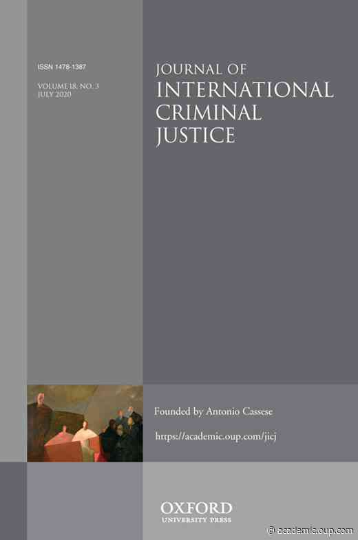 Managing Frozen Assets at the International Criminal CourtThe Fallout of the Bemba Acquittal