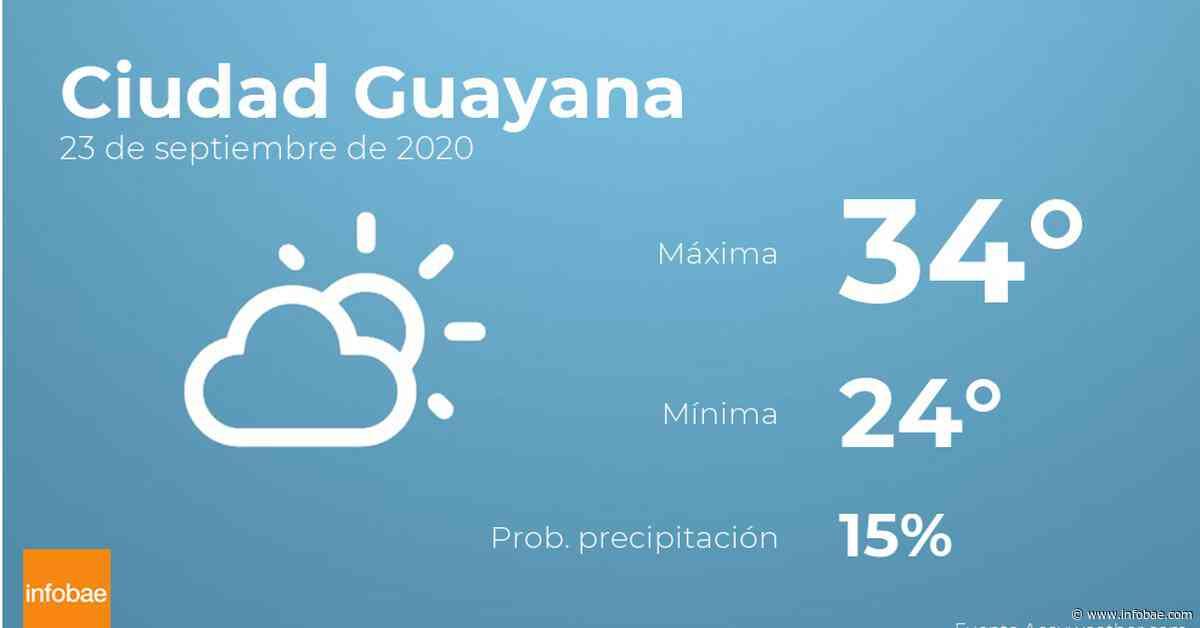 Previsión meteorológica: El tiempo hoy en Ciudad Guayana, 23 de septiembre - Infobae.com