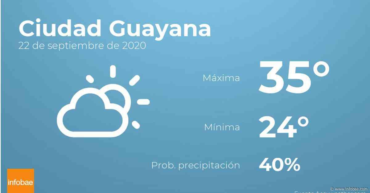 Previsión meteorológica: El tiempo hoy en Ciudad Guayana, 22 de septiembre - Infobae.com