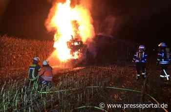 POL-NI: Maishäcksler geht in Flammen auf / Totalschaden