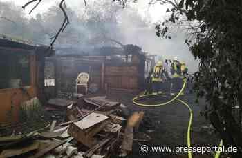 FW-BN: Gartenlaubenbrand in Bonn Dransdorf