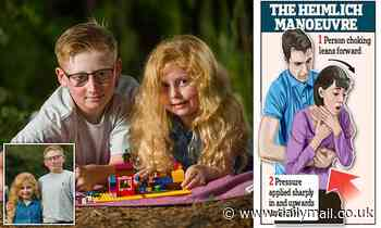Boy, 10, saves six-year-old sister from choking on Lego brick by performing Heimlich manoeuvre