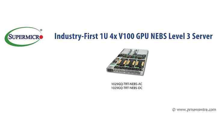 Supermicro é o primeiro a chegar ao mercado com servidor em 1U e certificação NEBS de Nível 3 - Oferece 2.560 núcleos GPU NVIDIA para Inovação 5G, Edge AI & VR
