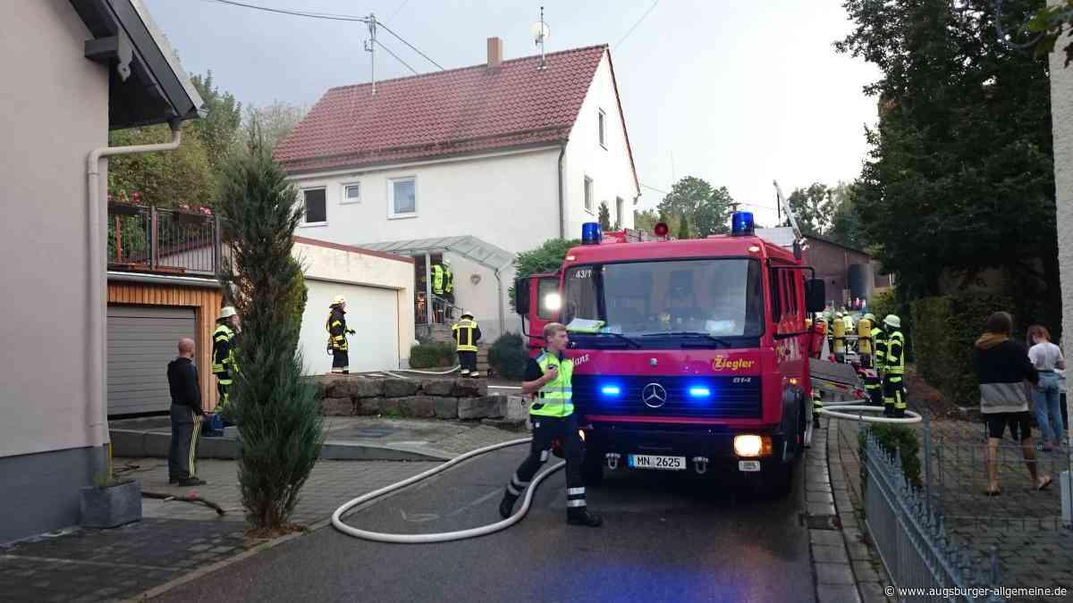 Haus-Brand in Kettershausen: Feuerwehr rückt aus - Augsburger Allgemeine