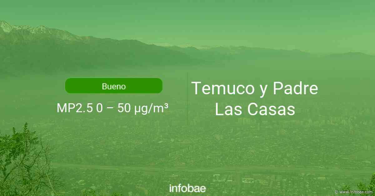 Calidad del aire en Temuco y Padre Las Casas de hoy 23 de septiembre de 2020 - Condición del aire ICAP - infobae