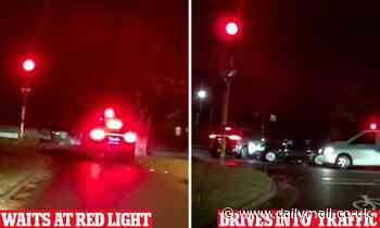 Sydney Lane Cove Porsche driver runs red light after waiting and veers into oncoming traffic