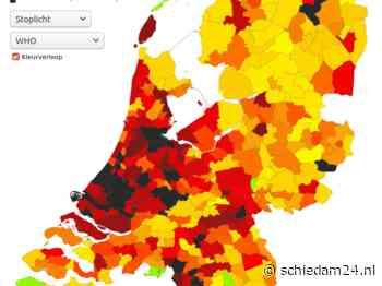 Schiedam zwart op de kaart, met zeventien nieuwe infecties - https://schiedam24.nl/