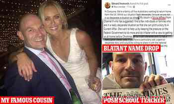 Dad stuck in Britain name drops cousin Sylvia Jeffreys to get back into Australia for COVID