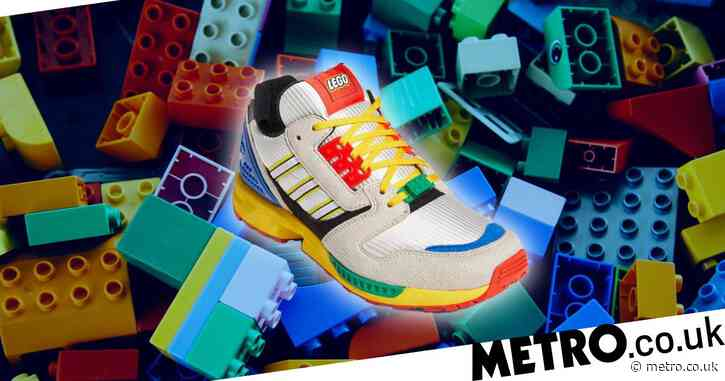Adidas teams up with Lego to release new colourful trainers