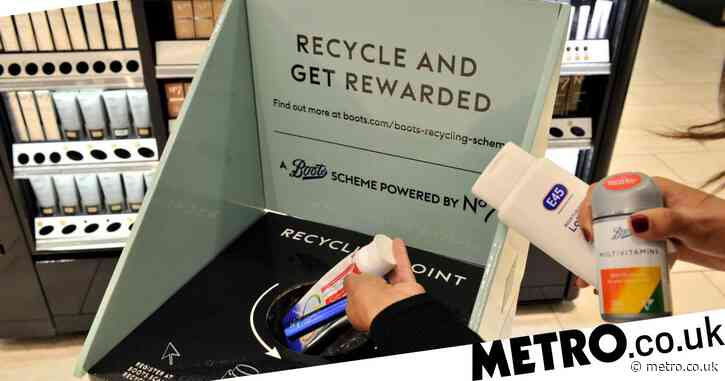 Boots will give you £5 of free points when you recycle packaging