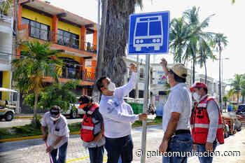 Instalarán en Isla Mujeres 11 paraderos para los usuarios del transporte público - Galu