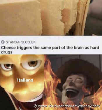 Cheese Triggers The Same Part Of The Brain As Hard Drugs – Meme