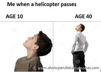 Me When A Helicopter Passes – Meme