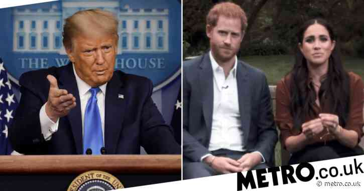 Donald Trump blasts Meghan Markle and says Harry 'is going to need a lot of luck'