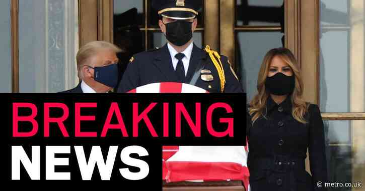Donald and Melania Trump badly booed and jeered as they pay respects to Ruth Bader Ginsburg