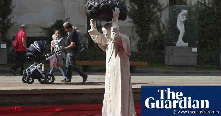 Poland unveils 'superhuman' John Paul II statue in Warsaw