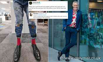 Jeremy Vine posts photo of his jeans but Twitter users can't get past his feet