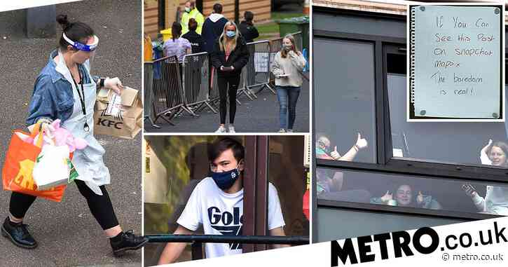 Student trapped at uni where 600 are in isolation scared he'll catch virus next