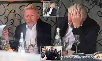 Boris Becker looks anguished after being told he faces seven years in jail