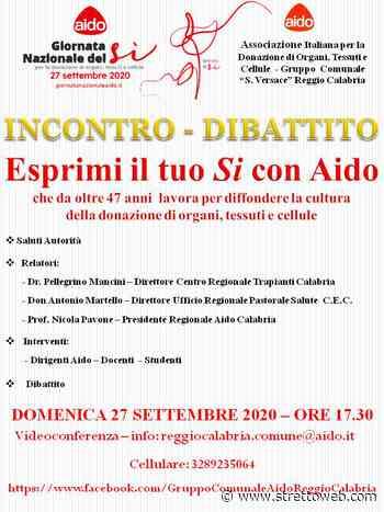 """Reggio Calabria: il Gruppo Comunale """"S. Versace"""" ha organizzato in videoconferenza l'incontro – dibattito """"Esprimi il tuo Si con Aido"""" - Stretto web"""
