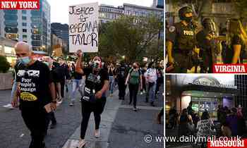 BLM supporters take to the streets of the nation for the second night of Breonna Taylor protests