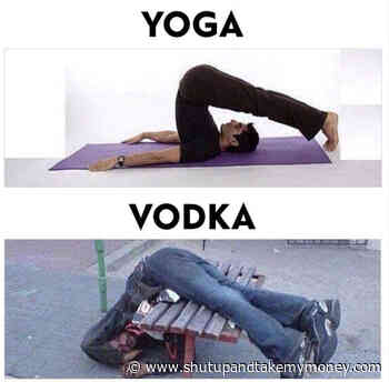 Yoga Vs Vodka – Meme