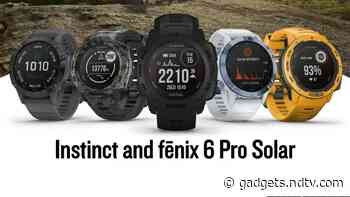Garmin Instinct, Fenix 6 Pro Solar-Powered Smartwatches Launched in India