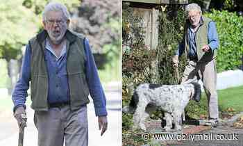 Rolf Harris looks frail as he's pictured for first time since turning 90