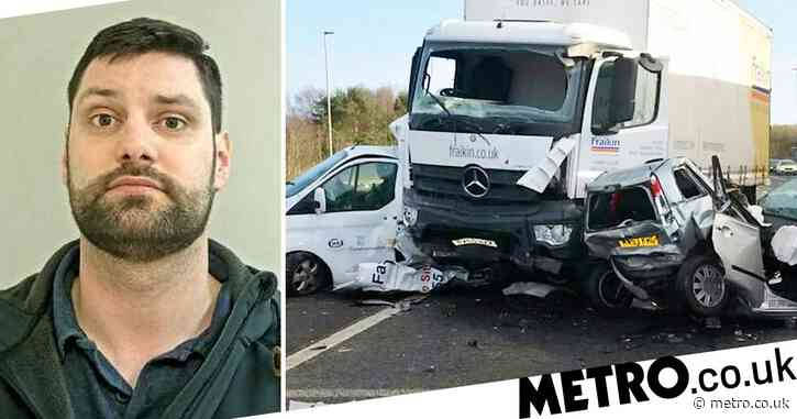 Lorry driver killed woman, 91, in horror crash while fiddling with his radio