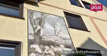 Kunst hängt in Biedenkopf an Nachbars Hauswand - Mittelhessen