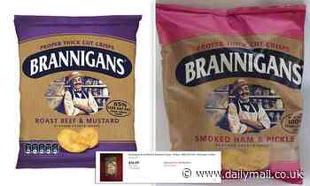 Brannigans crisps are being sold for £3 a pack on eBay after KP announced it was axing brand