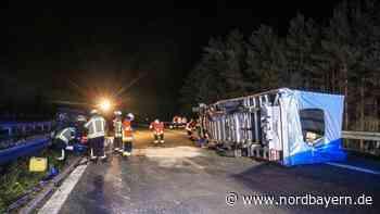 Verkehrschaos auf der A70: Transporter kippte bei Thurnau um - Nordbayern.de