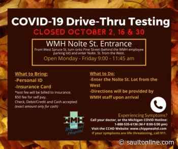WMH COVID Drive-Thru adjusting hours