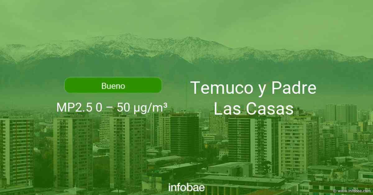 Calidad del aire en Temuco y Padre Las Casas de hoy 25 de septiembre de 2020 - Condición del aire ICAP - infobae