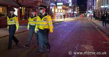 Coronavirus curfew sees police patrol ghost towns as streets empty in minutes