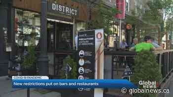 Bars, restaurants targets of new COVID-19 restrictions