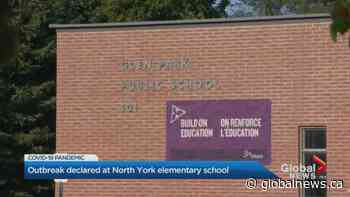 COVID-19 outbreak declared at Toronto elementary school