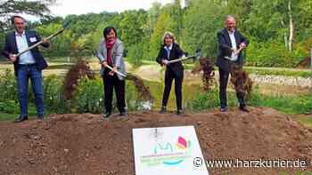 Bauarbeiten für Landesgartenschau Bad Gandersheim 2022 eröffnet - HarzKurier